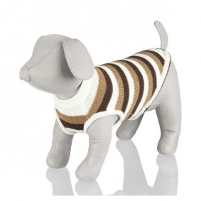 Trixie Hundepullover Hamilton braun/weiß gestreift
