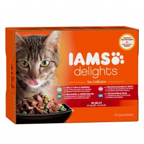 Groß Döbbern Angebote Procter & Gamble Iams Delights Multipack Sea Collection in Gelee 12x85g