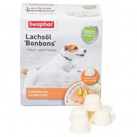 beaphar Hundesnack Lachsöl Bonbons 245g
