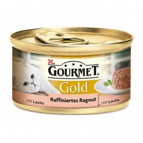 Gourmet Katzenfutter Gold Raffiniertes Ragout Lachs
