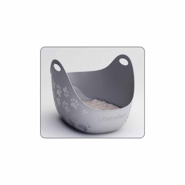 LitterLocker® Katzentoilette LitterBox grau