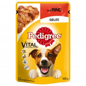 Pedigree Adult mit Rind in Gelee