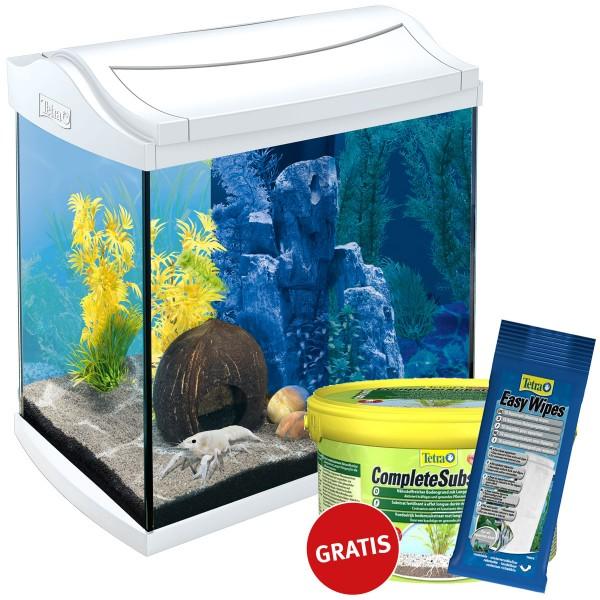 Tetra AquaArt LED Aquarium-Komplett-Set weiß 30...
