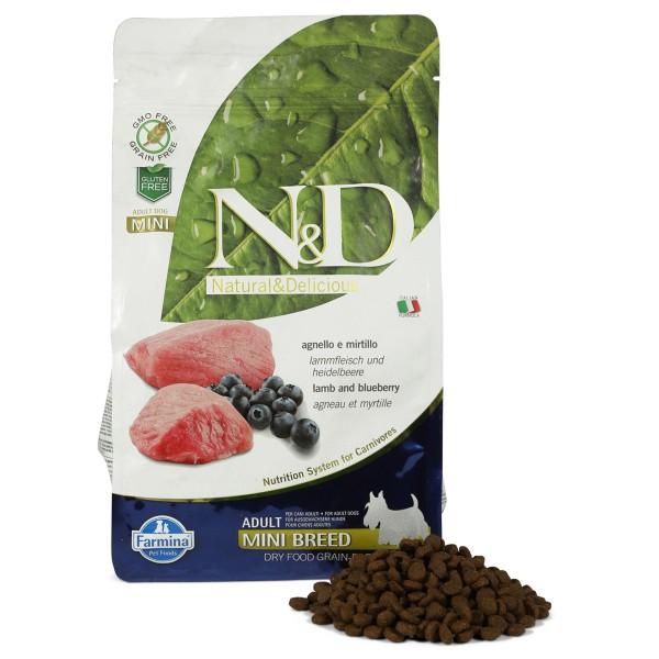 N&D Hundefutter Lamm&Heidelbeeren Mini Adult getreidefrei 800g