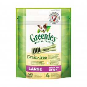 Greenies Grain Free Large Zahnpflegesnacks für Hunde über 23kg - 170g