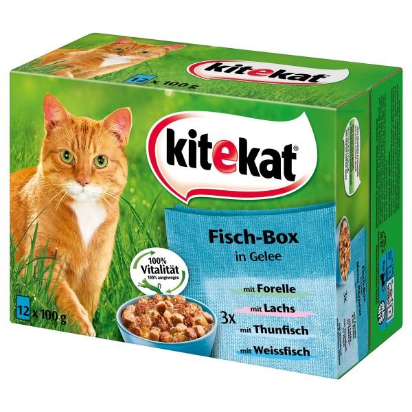 Kitekat Multipack Portionsbeutel -Fisch-Box