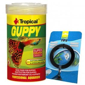 Tropical Fischfutter Guppy 100 ml + Tetra FR 6 Futtering