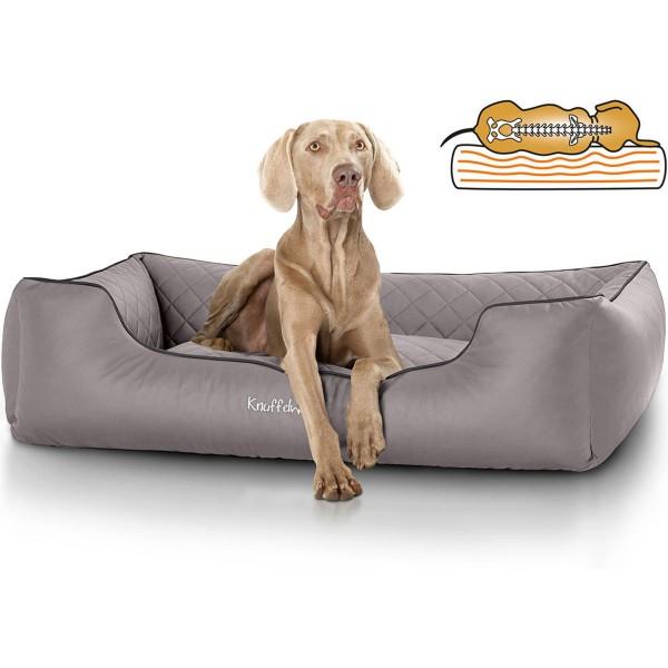 Knuffelwuff orthopädisches Hundebett Madison grau M-L