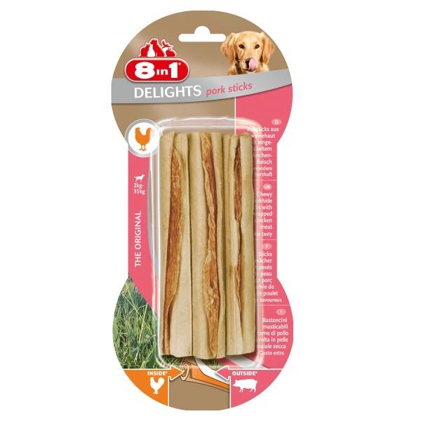 8in1 Delights Pork Kausticks 3 Stück