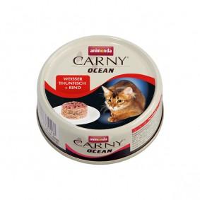 Animonda Katzenfutter Carny Ocean Weisser Thunfisch und Rind