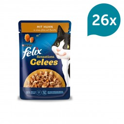 FELIX Sensations Gelees mit Huhn & Karotte