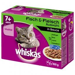 Whiskas 7+ Fisch & Fleischauswahl in Sauce Multipack 12x100g