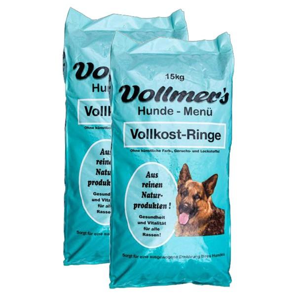 Vollmers Hundefutter 2x15kg verschiedene Sorten - Vollkost Ringe