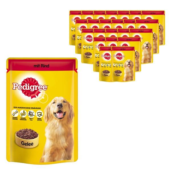 Pedigree Hundefutter mit Rind in Gelee