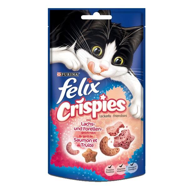 Felix Katzensnack Crispies - mit Lachs & Forelle