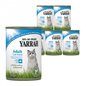 Yarrah Katzenfutter Bio Pate mit Fisch 12x400g