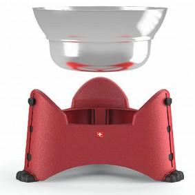 Rotho MyPet nastavitelná miska na žrádlo, 2,5 l, červená