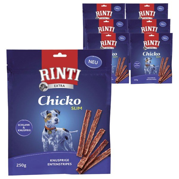 Rinti Hundesnack Chicko Slim Ente 6x250g