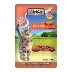 MAC's Cat Katzenfutter Pouchpack Kalb, Rind und Cranberry 12x100g