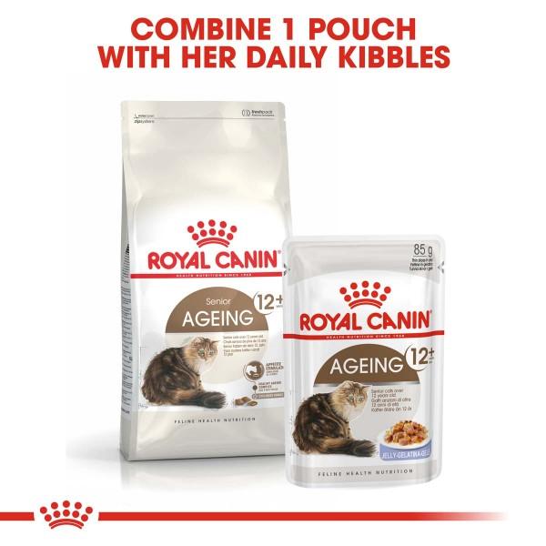 ROYAL CANIN AGEING 12+ Trockenfutter 4kg + Nassfutter 12x85g