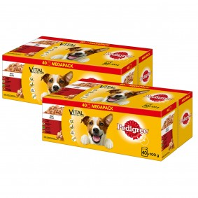 Pedigree Adult Multipack in Gelee 60x100g + 20x100g GRATIS