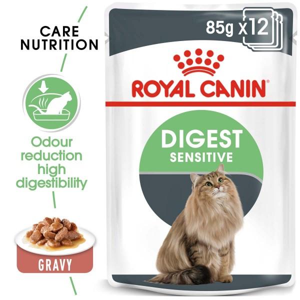ROYAL CANIN Digest Sensitive Nassfutter für Katzen mit empfindlicher Verdauung 12x85g
