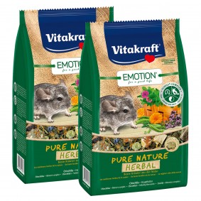 Vitakraft Emotion Pure Nature Herbal Chinchillas 2x600g