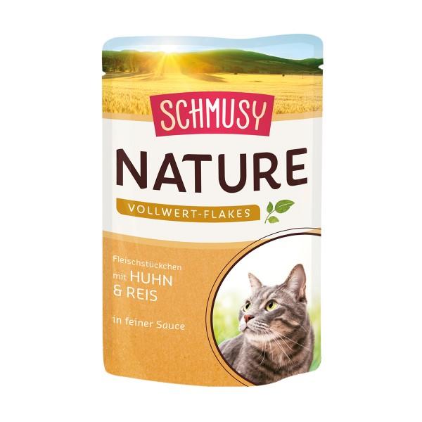 Schmusy Nature Vollwert-Flakes Huhn & Reis 22x100g