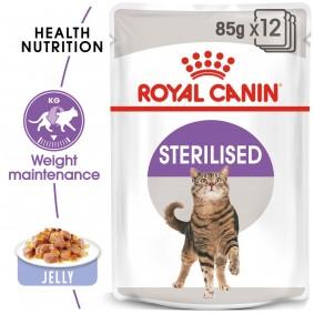 ROYAL CANIN STERILISED Nassfutter in Gelee für kastrierte Katzen12x85g