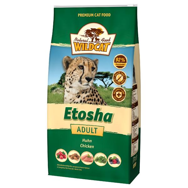 Wildcat Etosha mit Huhn