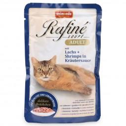 Animonda Katzenfutter Rafiné Soupé Adult mit Lachs & Shrimps in Kräutersauce