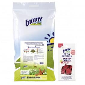 Bunny KaninchenTraum basic 4kg Keks mit Biss Möhre 50g Gratis!