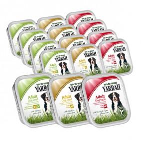 Yarrah Hundefutter Bio Mix-Set Rind, Huhn und Truthahn 84x150g