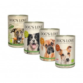 Dog's Love Bio Mixpaket 4x400g