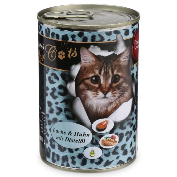 O'Canis Katzenfutter Huhn, Lachs und Distelöl 400g