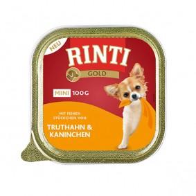 Rinti Hunde-Nassfutter Gold Mini Truthahn & Kaninchen 100g