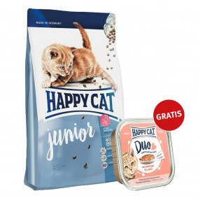Happy Cat Supreme Junior 300g plus Paté Geflügel & Lachs 100g