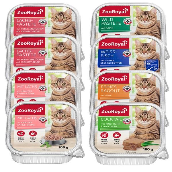 ZooRoyal Katzenfutter Mixpaket 8x100g