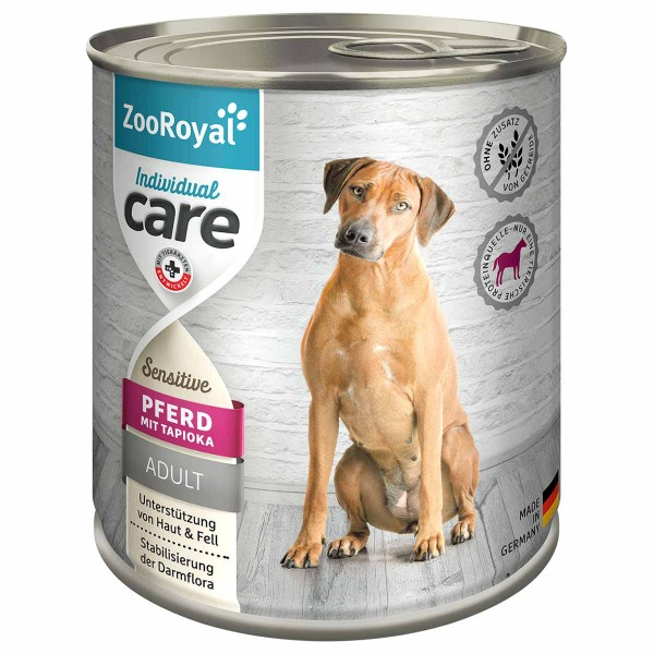 ZooRoyal Individual care - Adult Sensitive Pferd mit Tapioka 800g 5+1 gratis