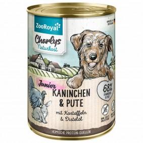 ZooRoyal Charlys Naturkost Junior Kaninchen & Pute mit Kartoffeln & Distelöl