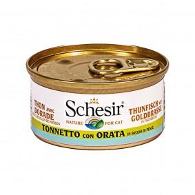 Schesir Cat Brühe Thunfisch & Goldbrasse