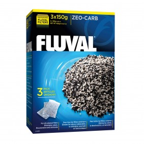 Fluval Zeo-Carb - Aktivkohle & Ammoniak-Entferner 450g (3x150g)