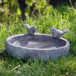 dobar Vogeltränke Pool-Oase 24,5 cm aus Keramik