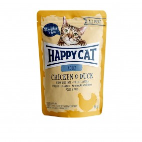 Happy Cat kapsičky – All Meat Adult kuřecí a kachna