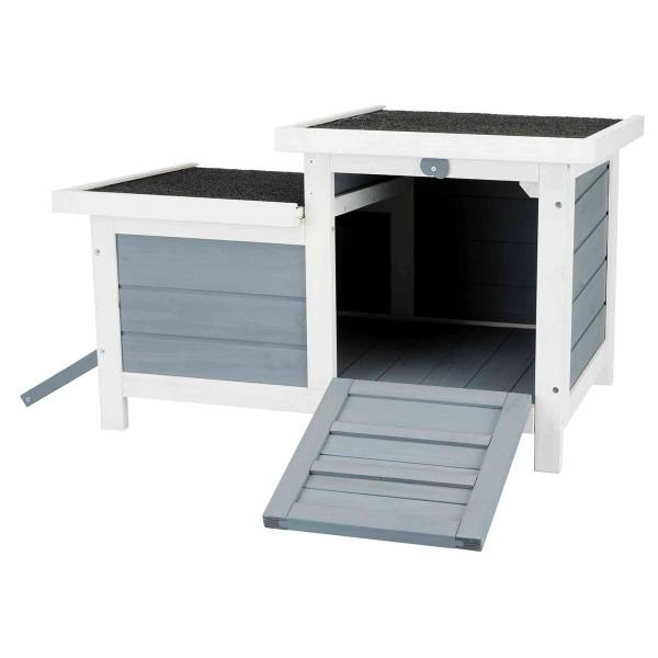 Trixie natura Kleintierhaus mit 2 Eingängen - grau/weiß