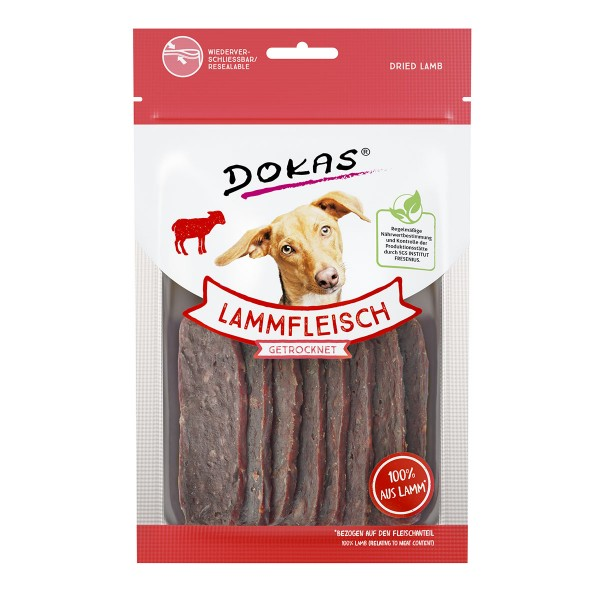 Dokas Hundesnack Lammfleisch getrocknet