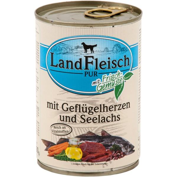 Landfleisch Hundefutter Dog Pur 24x400g verschi...