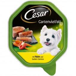 Cesar Gartenvielfalt mit Huhn und buntem Gemüse