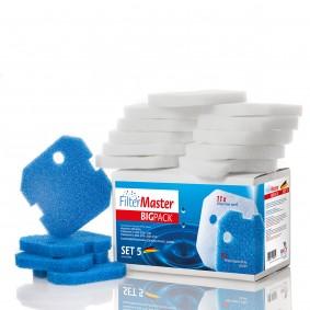Filtermaster Filtermedien BigPack Set 5 für Eheim Experience und Professionel 1 und 2