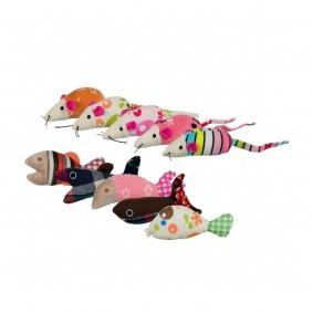 Trixie Mäuse und Fische Plüsch/Stoff 9-12 cm